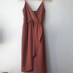 """""""Buttons"""" Rust Dress"""